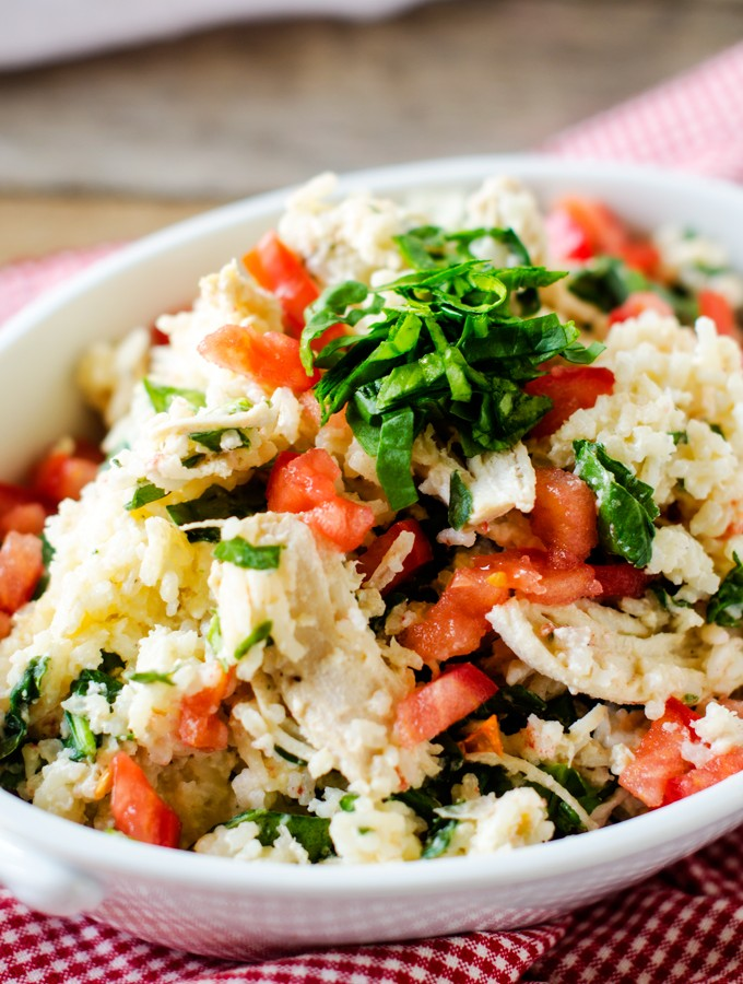 Slow Cooker Chicken and Rice with Feta and Spinach