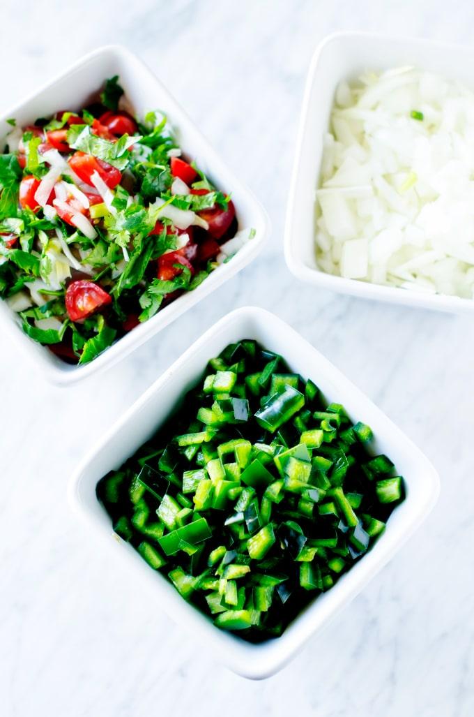 Cheesy-Chicken-&-Poblano-Pepper-Tostadas-process