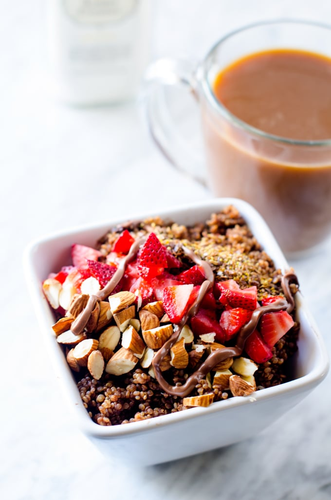 Leaner Chocolate Quinoa Breakfast Bowl