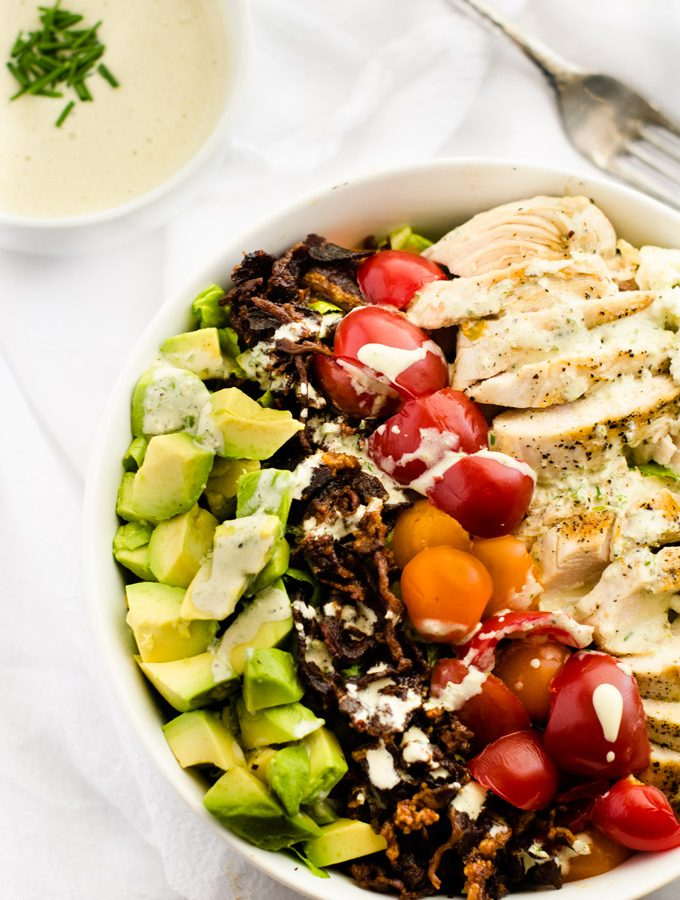 Avocado Bacon Grilled Chicken Salad & Kitchen Dreaming