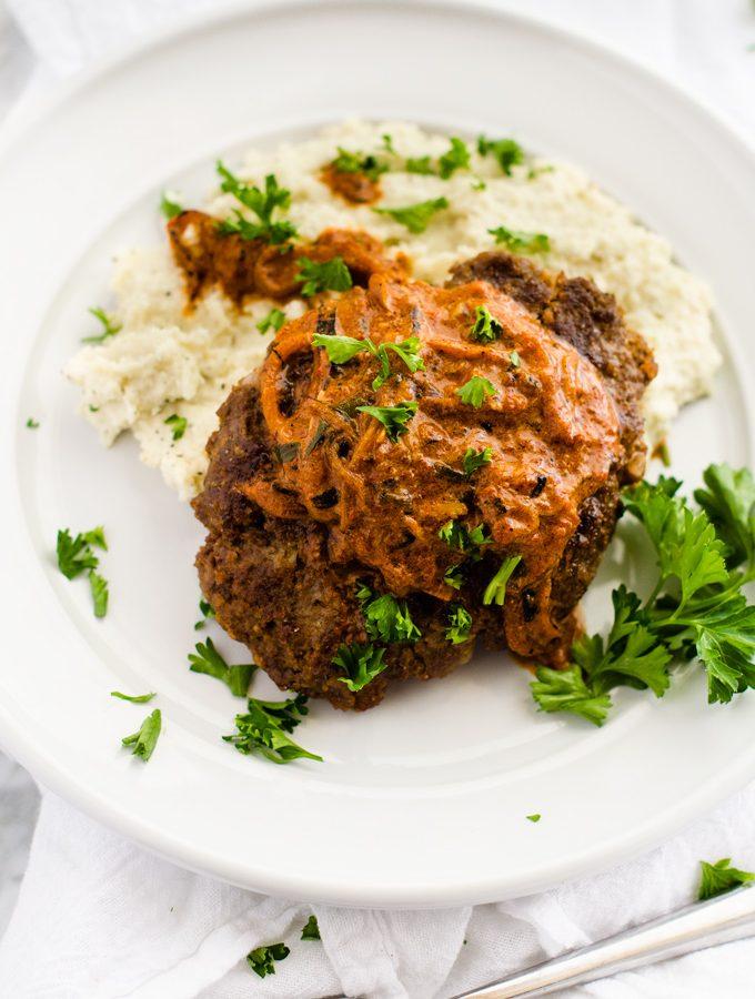 Salisbury Steak with Onion Sauce
