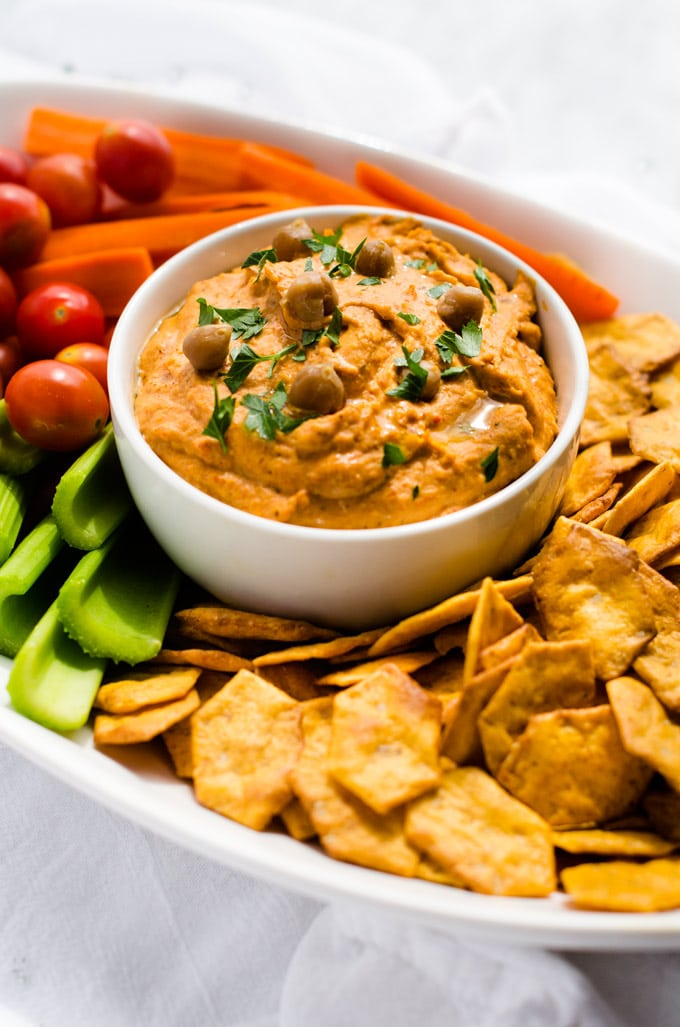 Smokey Roasted Red Pepper Hummus