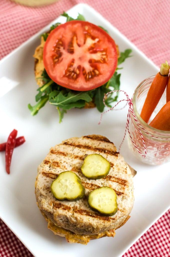 Quinoa Turkey Burgers with Sun Dried Tomato Aioli