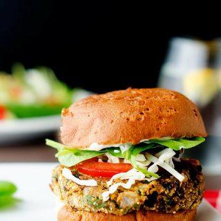 Black Bean Quinoa Cheddar Burgers
