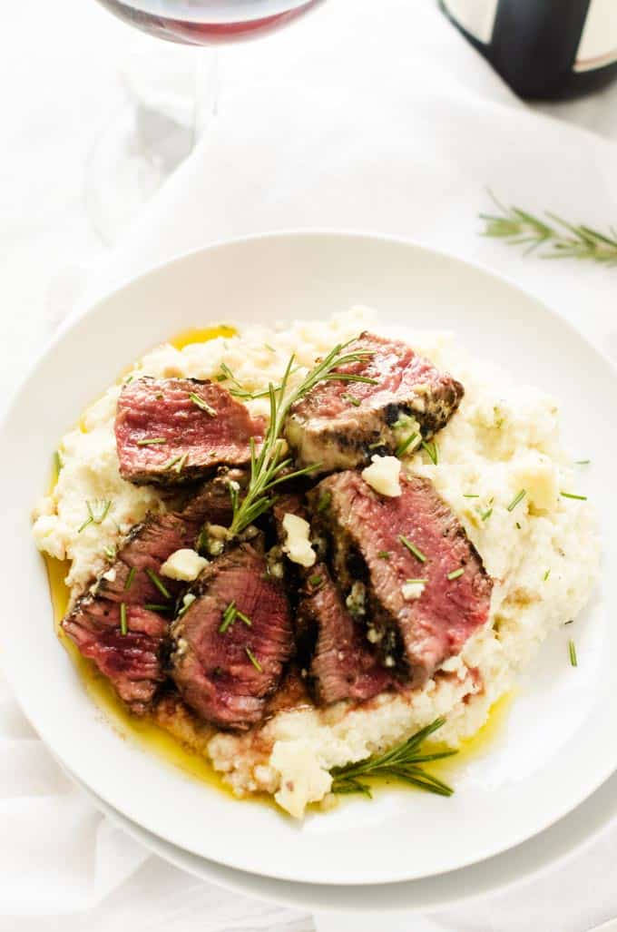 Grass-Fed Filet with Blue Cheese Butter