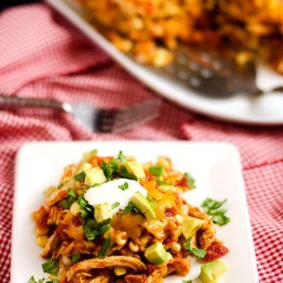 Slow Cooker Chicken Tortilla Casserole
