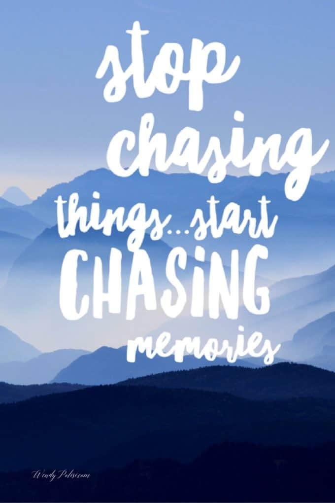 Stop Chasing Pin