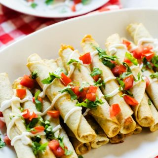 Quick & Easy Chicken and Cheese Taquitos