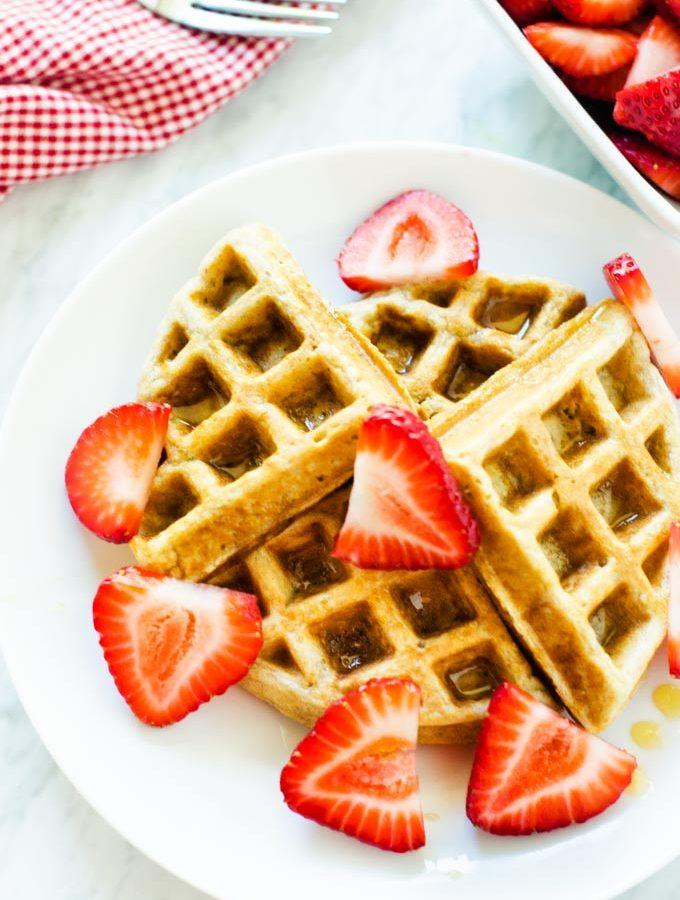 Gluten Free Oatmeal Waffles