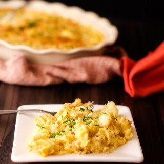 Skinny Cauliflower Mac & Cheese