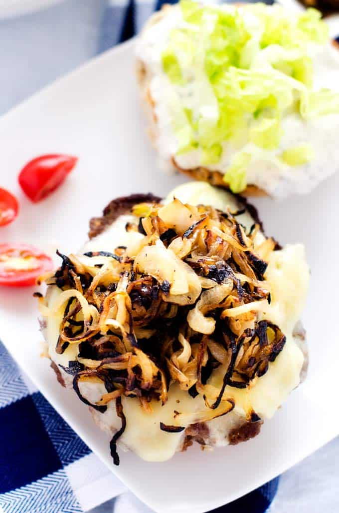 cheeseburgers-with-sauteed-onions-and-horseradish-mayo-3