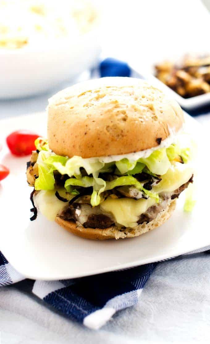 cheeseburgers-with-sauteed-onions-and-horseradish-mayo-4