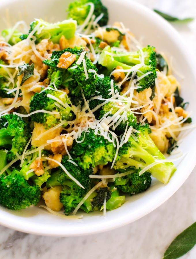 Gluten-Free Gnocchi with Broccoli, Sage & Parmesan