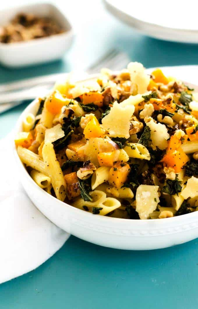 parmesan pasta with butternut squash and pecans butternut squash pasta ...