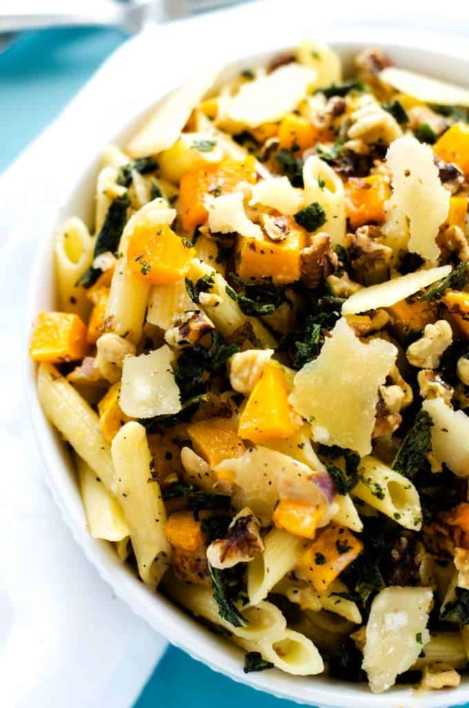 Gluten Free Penne Pasta with Butternut Squash, Walnuts ...