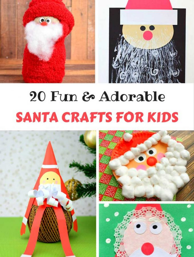 20 Fun & Adorable Santa Crafts for Kids