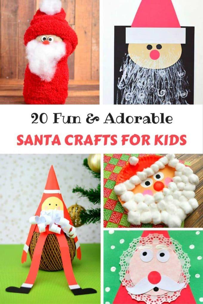 20 Fun & Adorable Santa Crafts for Kids