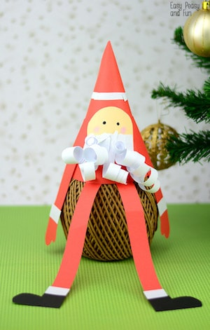 Photo of a Paper Cone Santa Craft.
