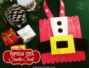 Photo of Santa Crafts for Kids - DIY Popsicle ornament.