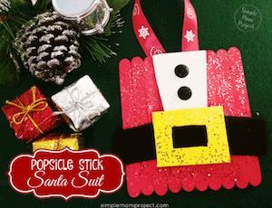 Photo of Santa Crafts for Kids - DIY Popsicle ornament.