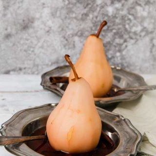 Cranberry Poached Pears