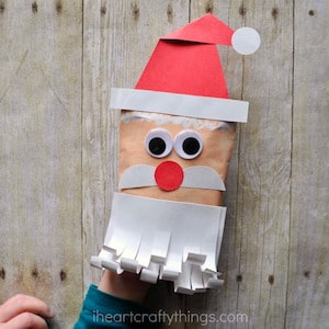 Photo of a DIY Envelope Santa Puppet Craft.