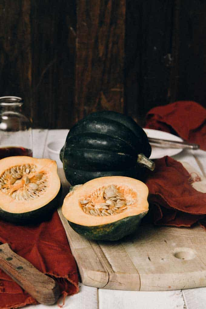 Maple Glazed Acorn Squash
