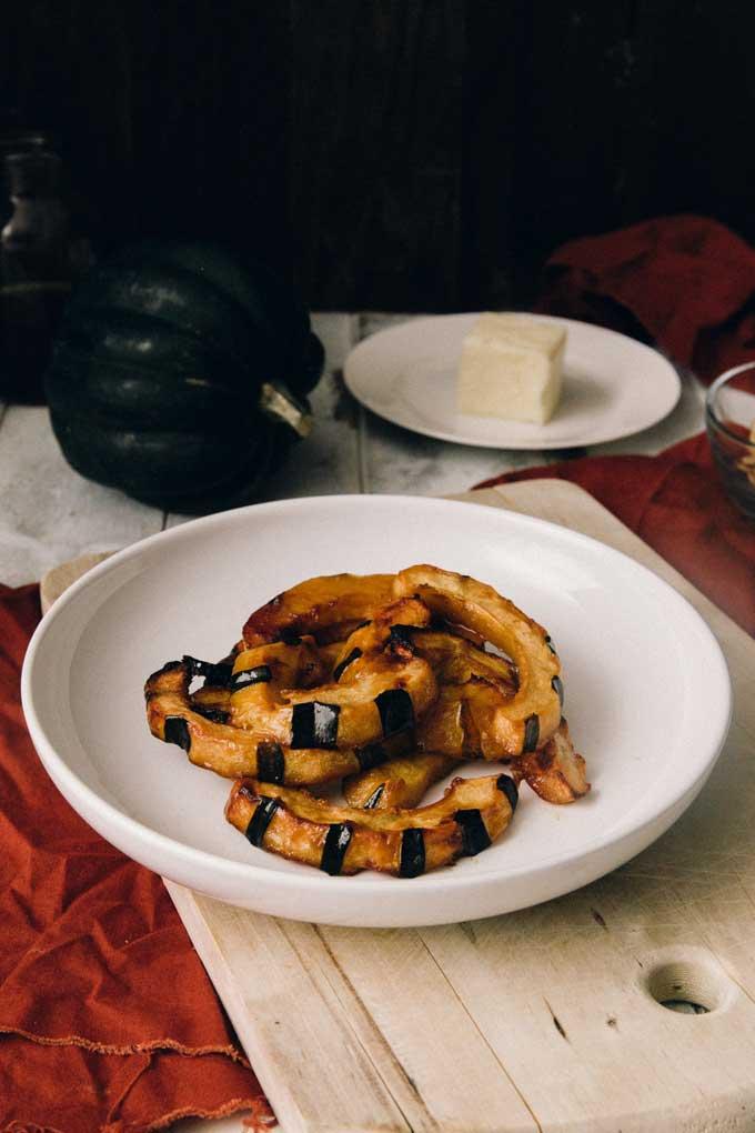 Maple Glazed Acorn Squash - Wendy Polisi