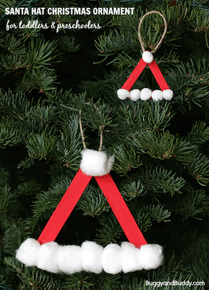 Photo of DIY Santa Hat Christmas Ornaments.