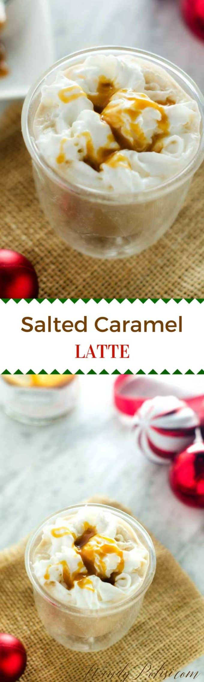 This Salted Caramel Latte is so easy to make and the perfect indulgence for your morning.  Make it dairy-free by using dairy-free milk!