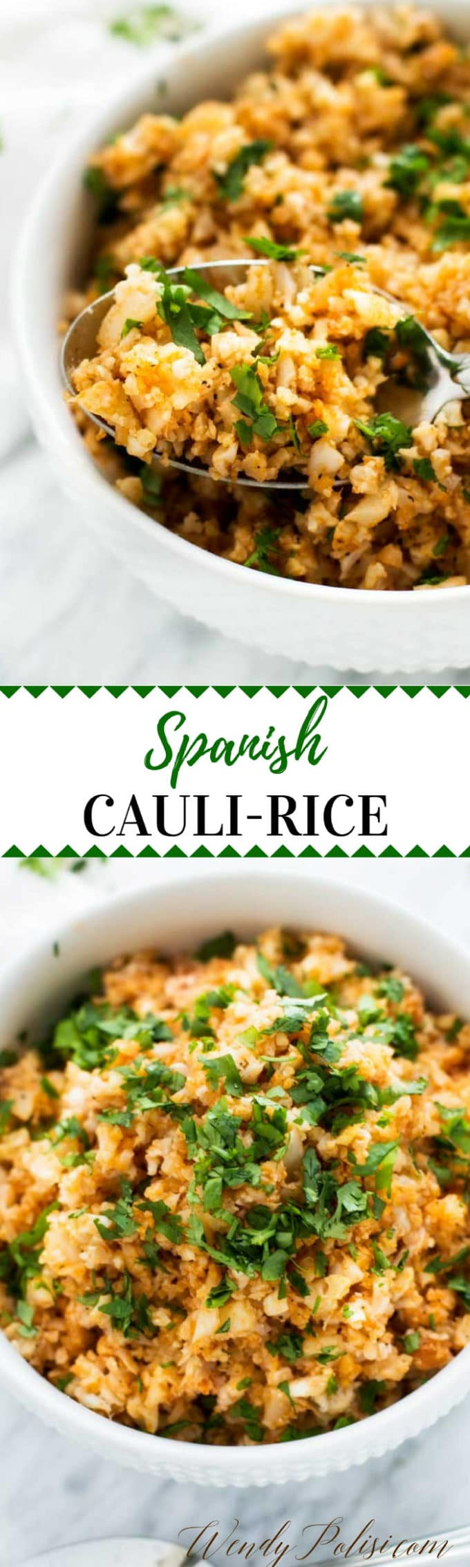 This Spanish Cauliflower Rice is a delicious low-carb side dish that you can enjoy without guilt! Naturally Gluten Free and Keto Friendly.