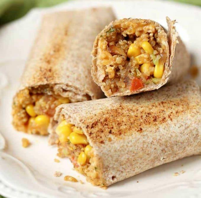 the ultimate veggie quinoa burritos the whole family will love