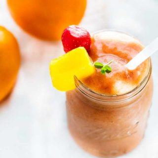 Orange Mango Strawberry Smoothie