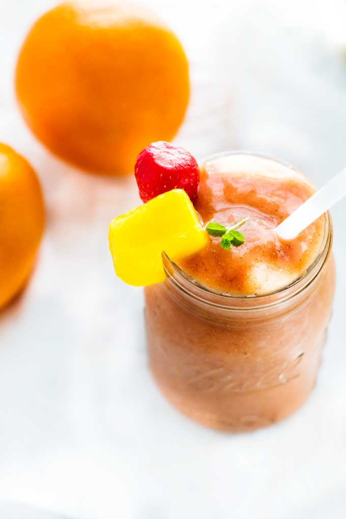 Orange Mango Strawberry Smoothie