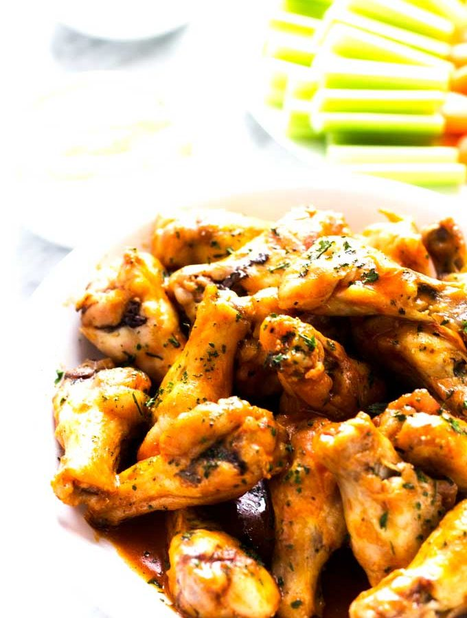 Oven Baked Buffalo Chicken Wings for Surfs Up 2: WaveMania Movie Night!