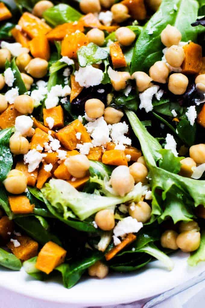 Sweet Potato Chickpea Salad