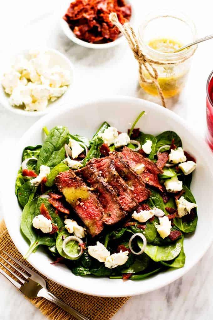 Blue Cheese & Bacon Steak Salad