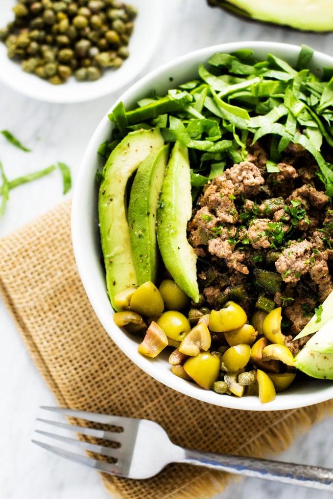 Spanish Beef & Cauliflower Rice Bowls