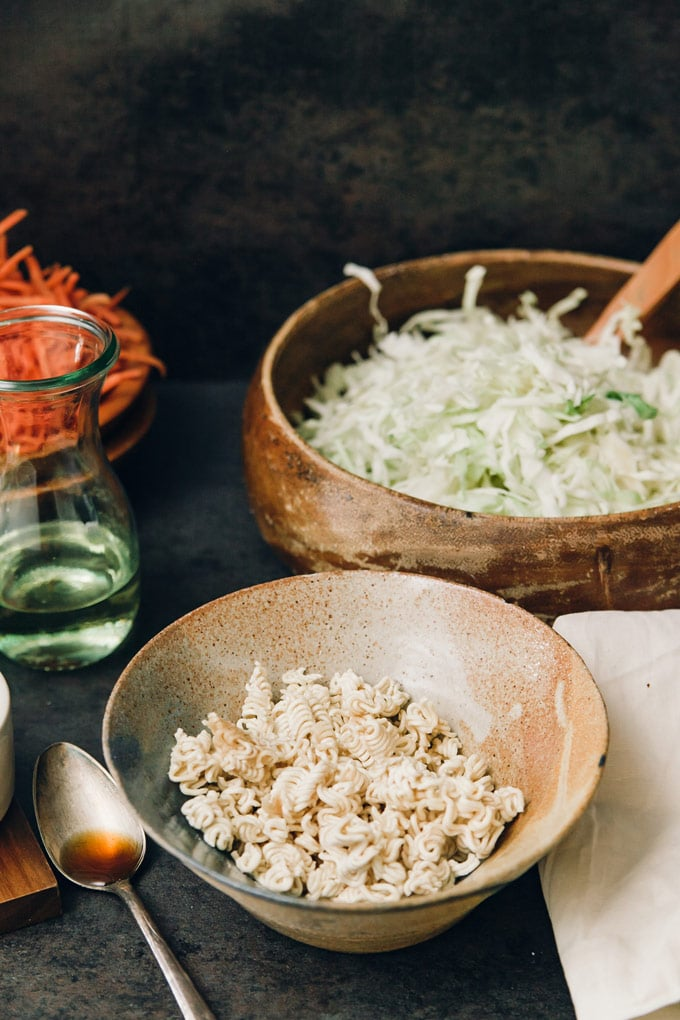 Asian Cabbage & Noodle Salad with Sesame Dressing