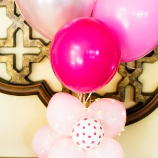 Add Flair to Your Next Party with This Flower Ballon Centerpiece