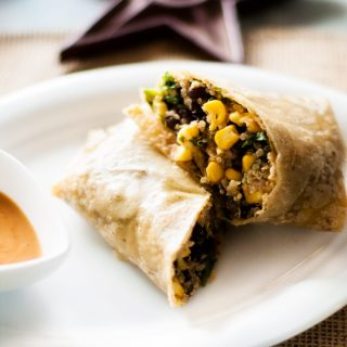Spicy Mexican Quinoa Wrap