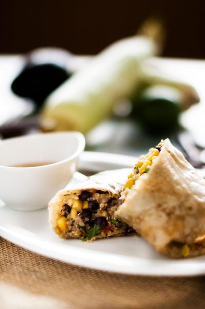 Spicy Mexican Quinoa Wrap