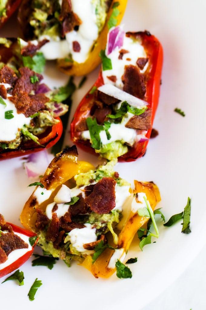 BBacon Guacamole Stuffed Mini Peppers