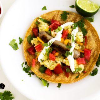 Sausage & Egg Breakfast Tacos