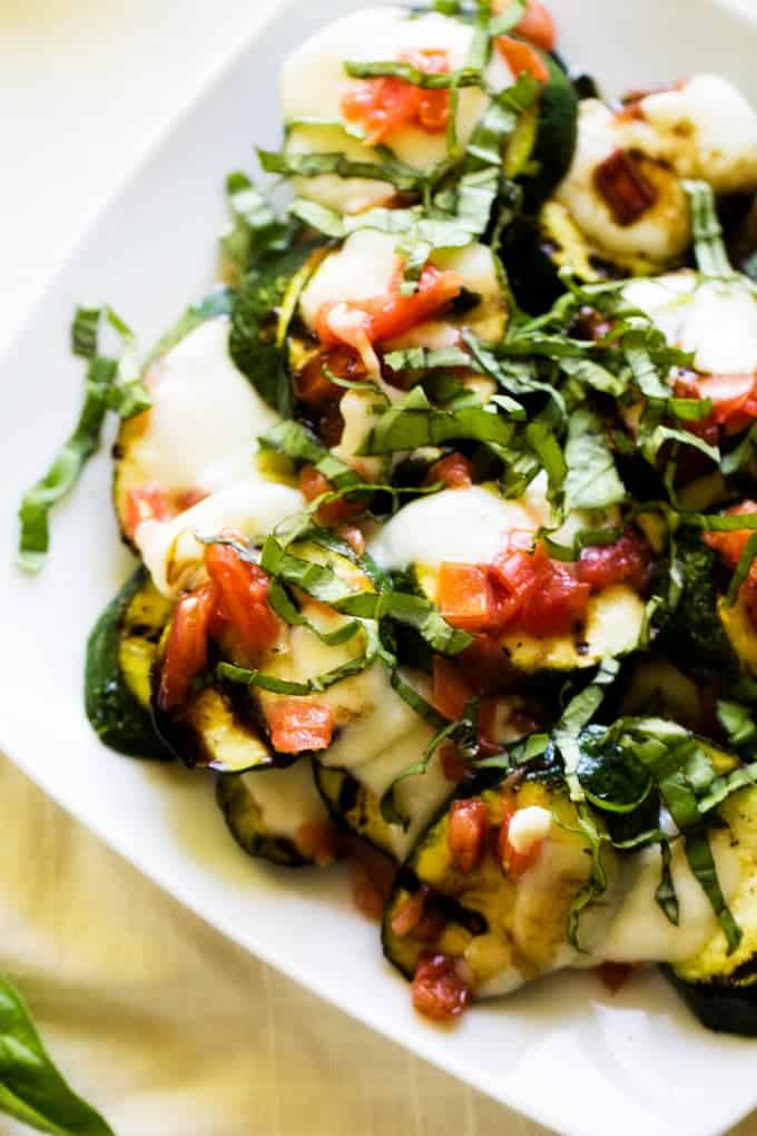 This Caprese Grilled Zucchini is the perfect summer side you will crave time and again!
