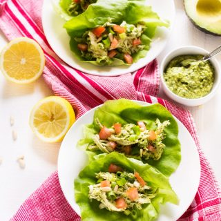 Avocado Pesto Chicken Salad Wraps