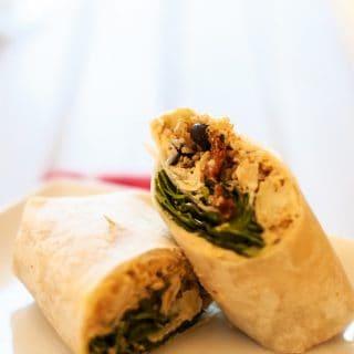 Easy & Delicious Mediterranean Quinoa Wraps