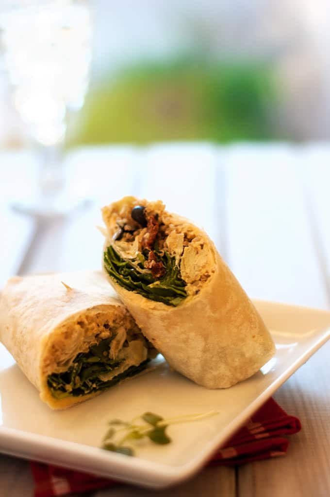 These Easy & Delicious Mediterranean Quinoa Wraps make a fabulous healthy lunch or light summer dinner.