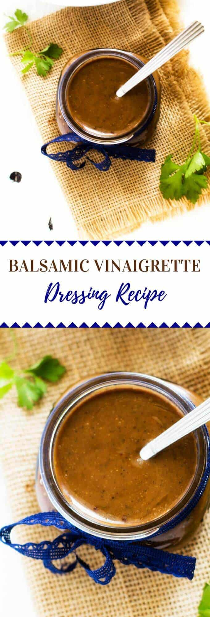 This Balsamic Vinaigrette Dressing Recipe is the perfect way to make your salads shine. Packed with flavor, bottled dressings just can't compete.