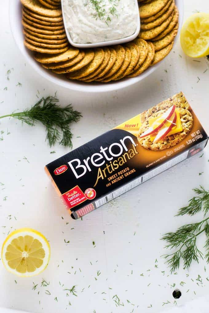 Box of Breton Artisanal Sweet Potato and Ancient Grains crackers